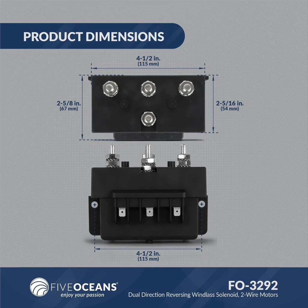 hight resolution of dual direction windlass solenoid 2 wire motors 12v five oceans