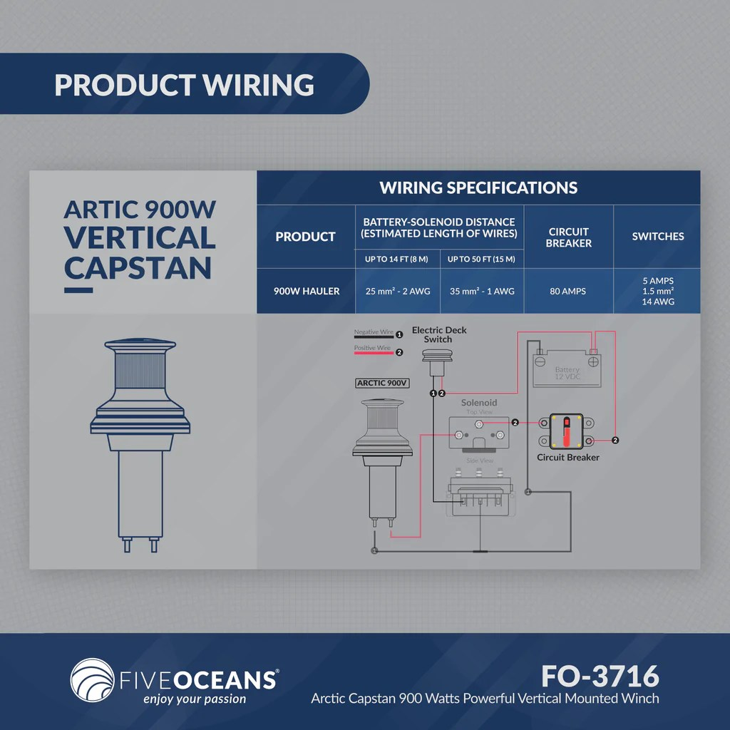 small resolution of  arctic 900 vertical capstan five oceans on hoist parts diagram contactor diagram hoist hoist wiring