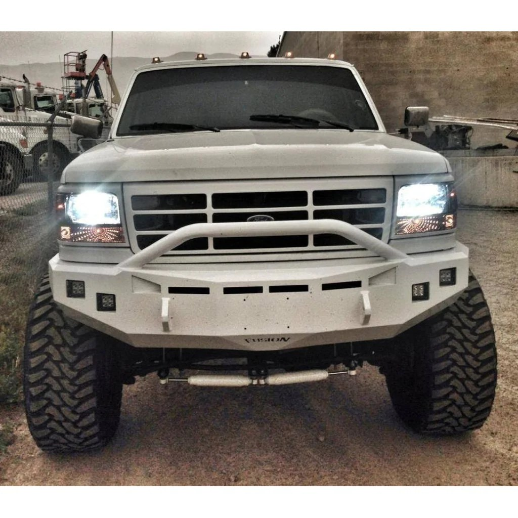 hight resolution of front fusion bumper 1992 1997 ford f 250 f 350