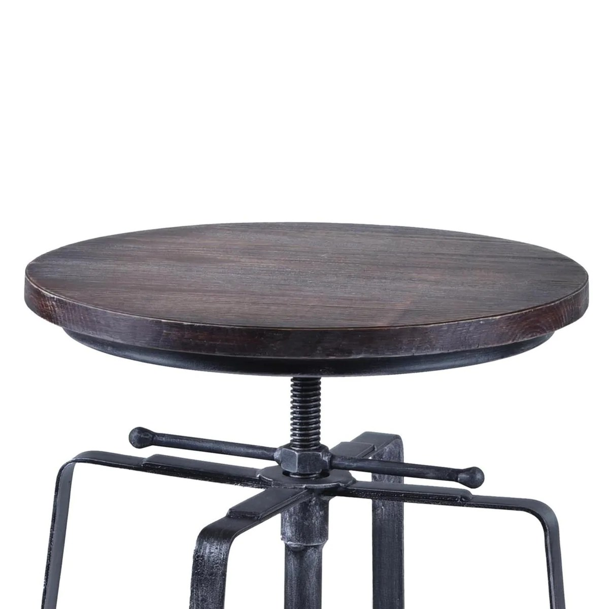 chair cba steel ball office armen living bronx adjustable barstool in industrial grey