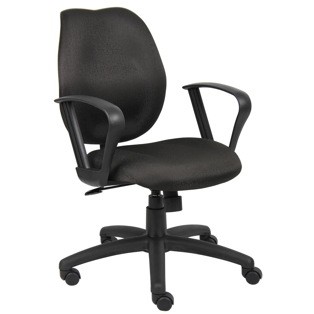 Task Chairs With Arms Boss Chairs Boss Black Task Chair W Loop Arms