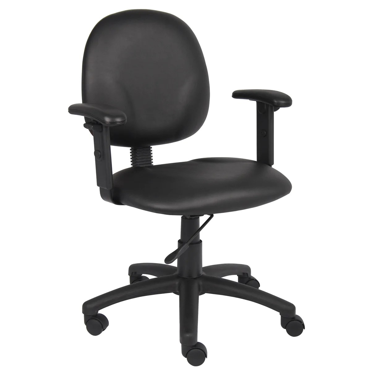 Task Chairs With Arms Boss Chairs Boss Diamond Task Chair In Black Caressoft W Adjustable Arms
