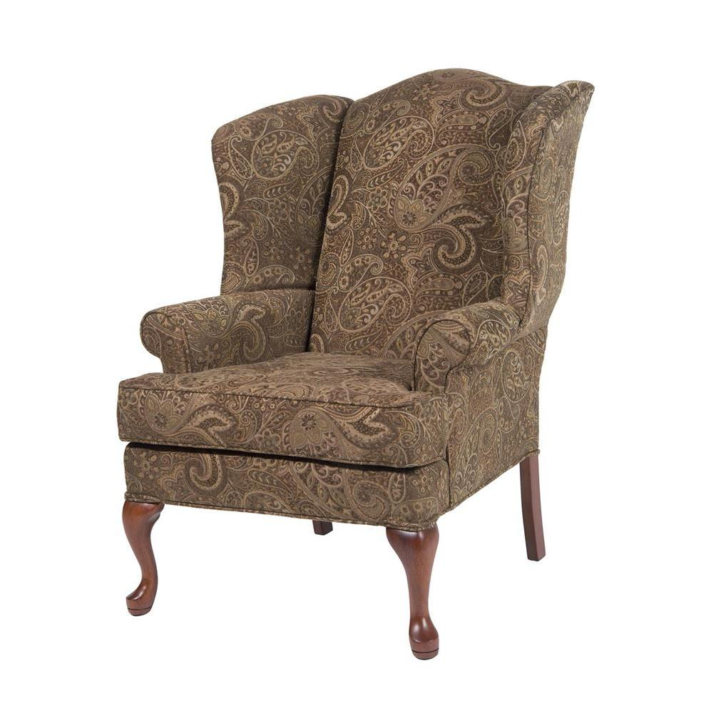 Paisley Chair Comfort Pointe Paisley Coco Wing Back Chair In Cherry
