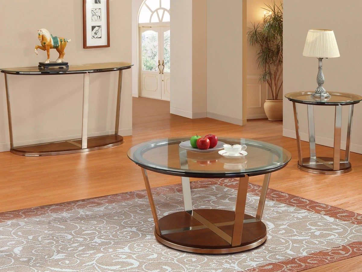 dunham reclining sofa small modern designs homelegance round glass cocktail table w metal