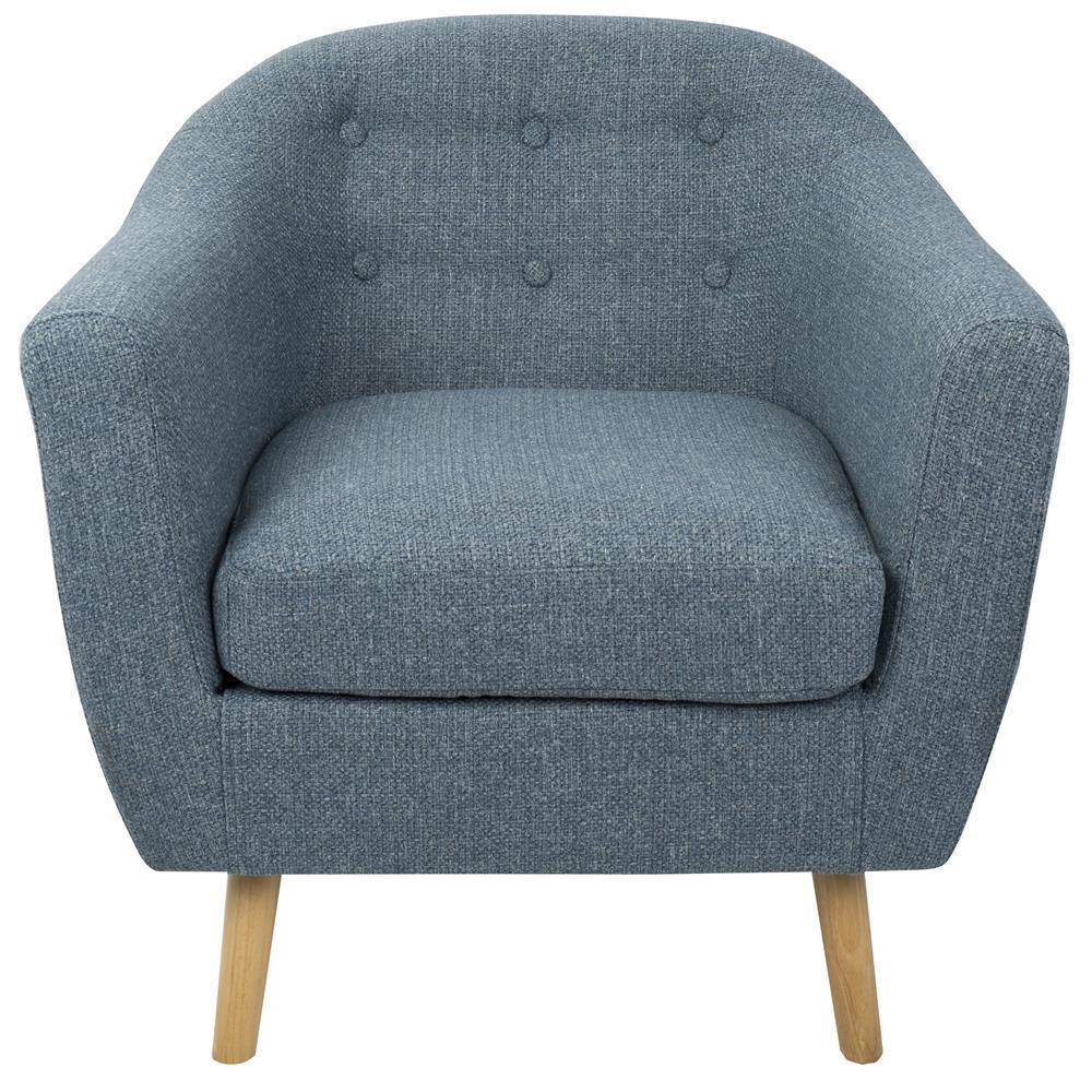 Mid Century Modern Accent Chair Lumisource Rockwell Mid Century Modern Accent Chair With Noise Fabric In Blue