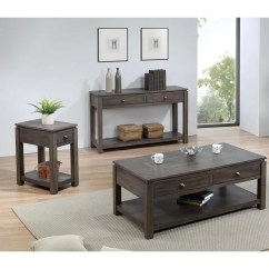 3 Piece Living Room Table Set Interior Design Ideas Apartment India Sunset Tradingshades Of Gray W Drawers Shelves In