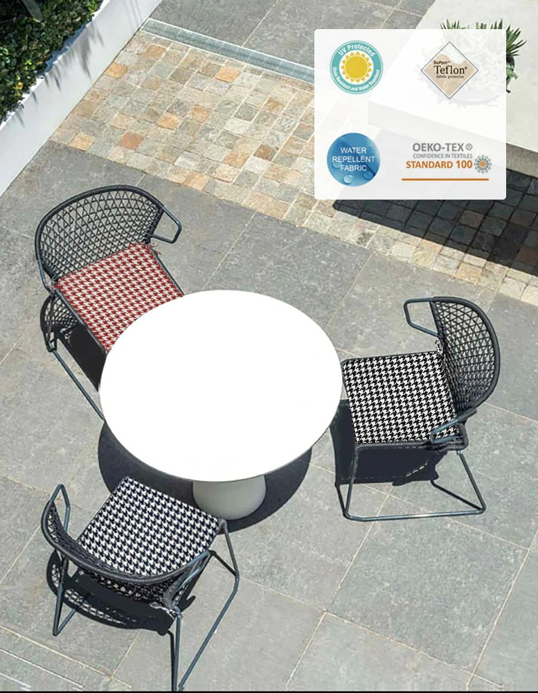 outdoor chair pads set of 2 18x18 inch black patio chair cushions square seat pads
