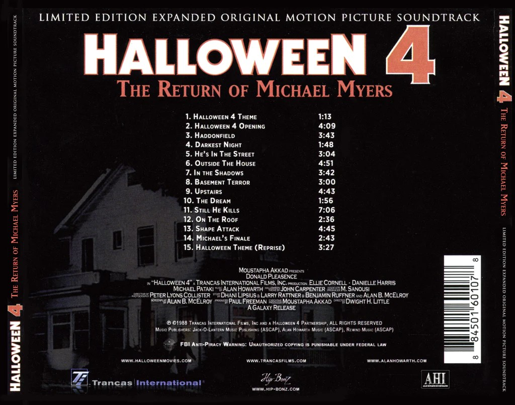 Return to top of page. Halloween Iv The Return Of Michael Myers Original Soundtrack By Ala Buysoundtrax