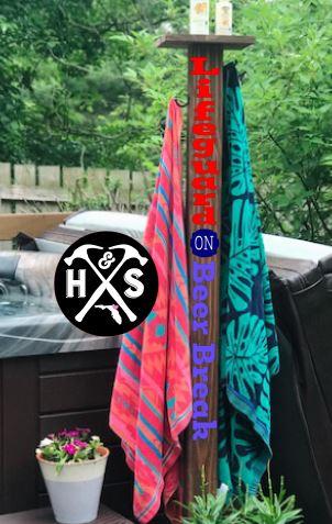 5 ft outdoor towel rack atlantic beach