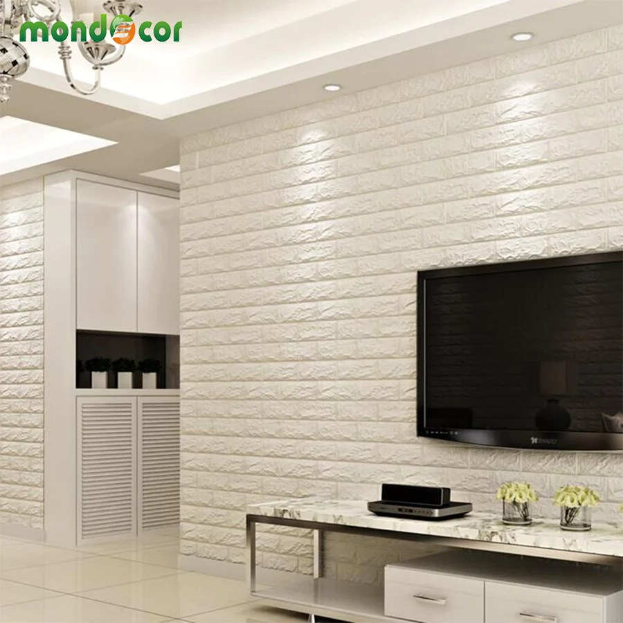 wall panels for living room lime green and black designs 8pcs diy brick panel self adhesive 3d sticker home decor waterproof