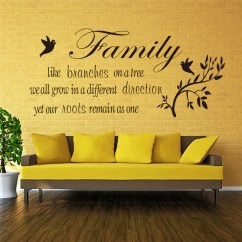 Wall Stickers Living Room Paint Color Options For Rooms Family Like Branches On The Tree Quotes Indoor Art Decor Diy