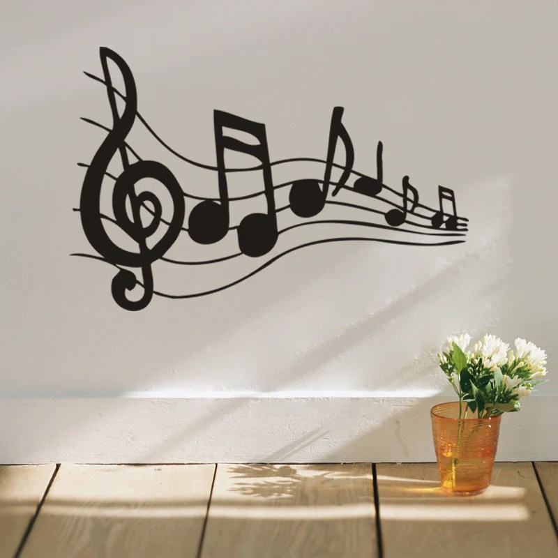 Melodious Musical Note Home Decor Wall Stickers For Music