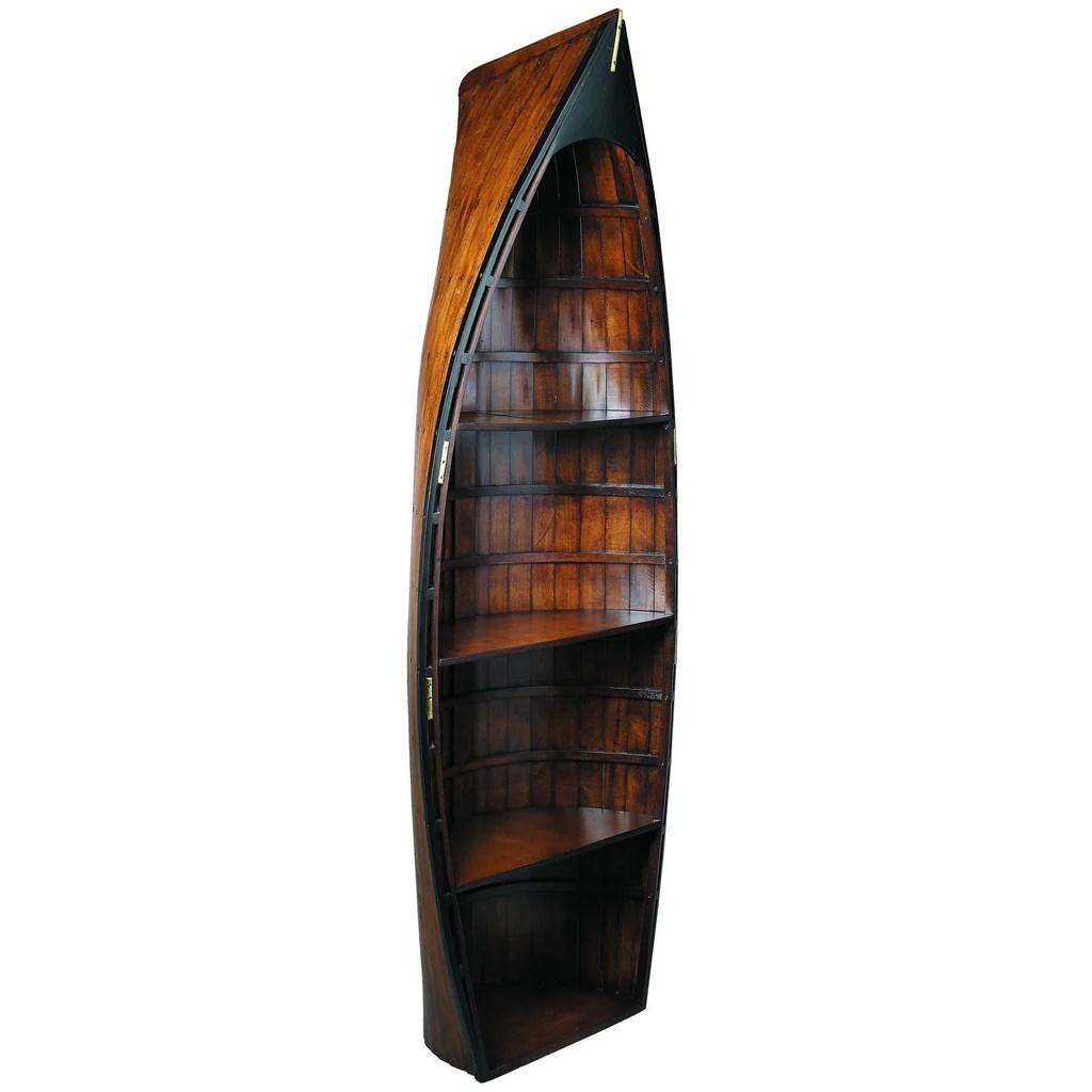 Authentic Models Bosun Gig Basswood Boat Shaped Shelf Unit In Black