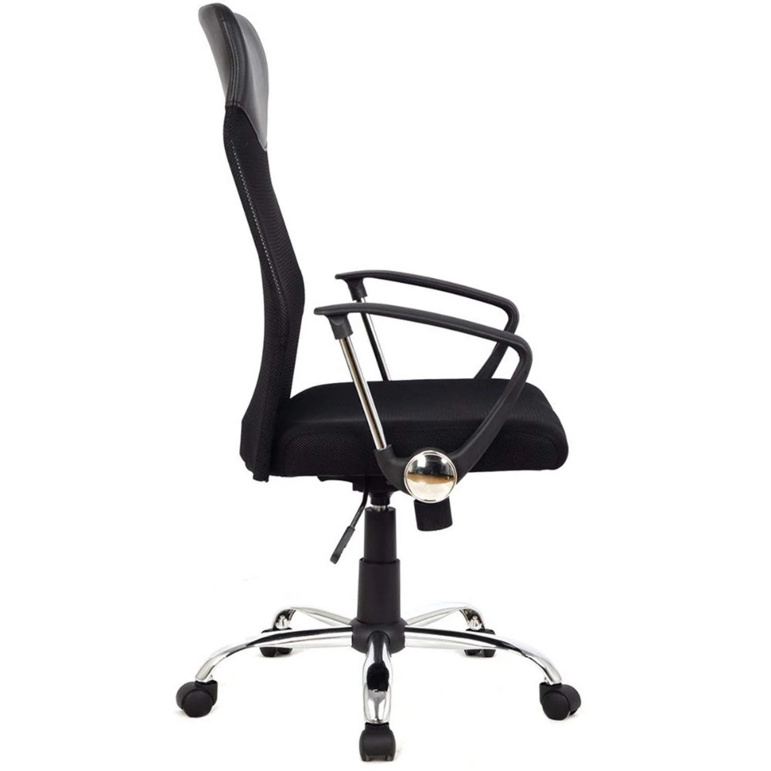 office chair steel base with wheels comfy and a half ergonomic mesh computer desk midback task