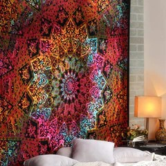 Koop Tapestry 3D Gedrukt Natuur Boom Gat Indische Mandala