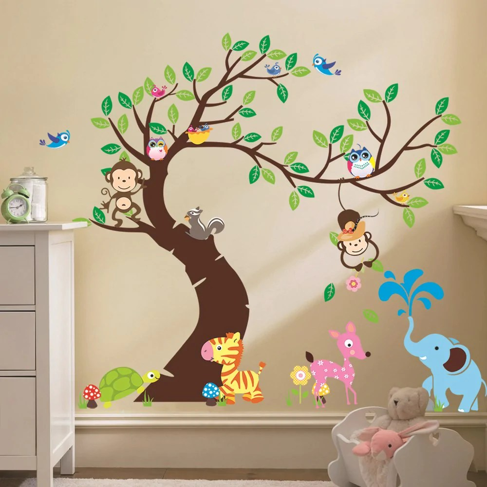 Decoratie Boom Kinderkamer.Boom Babykamer Babykamer Boom Behang Cartoonbox Info