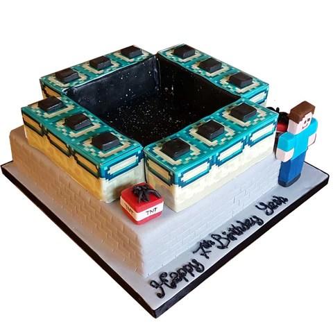 Minecraft End Portal Cake – CAKESBURG Online Premium Cake Shop