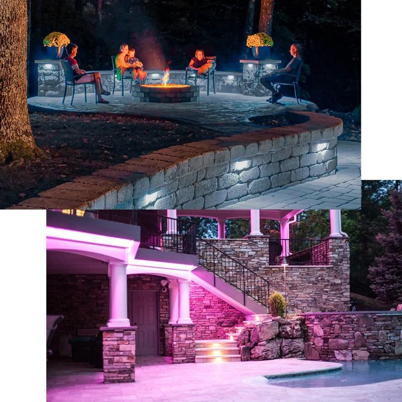 louisville landscape lighting color