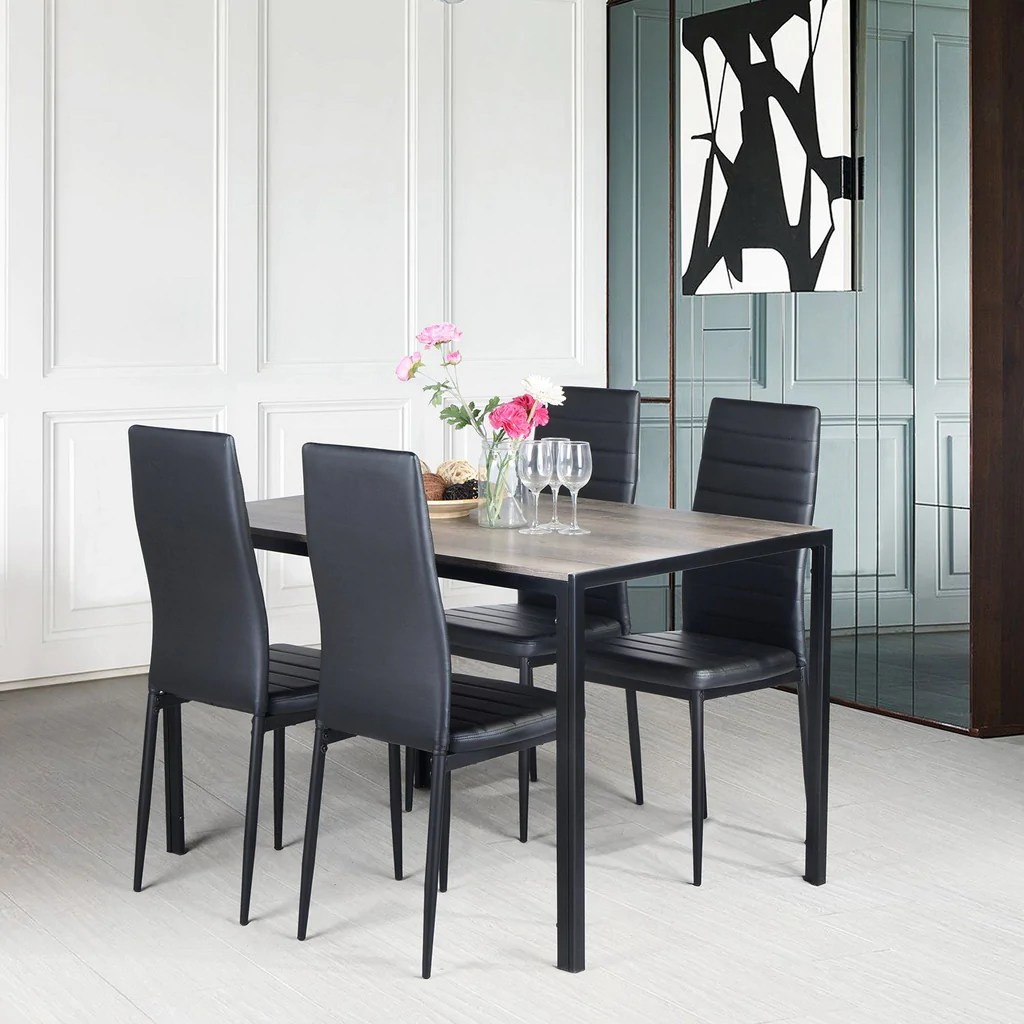 5 pieces dining set vargas table with ann chairs