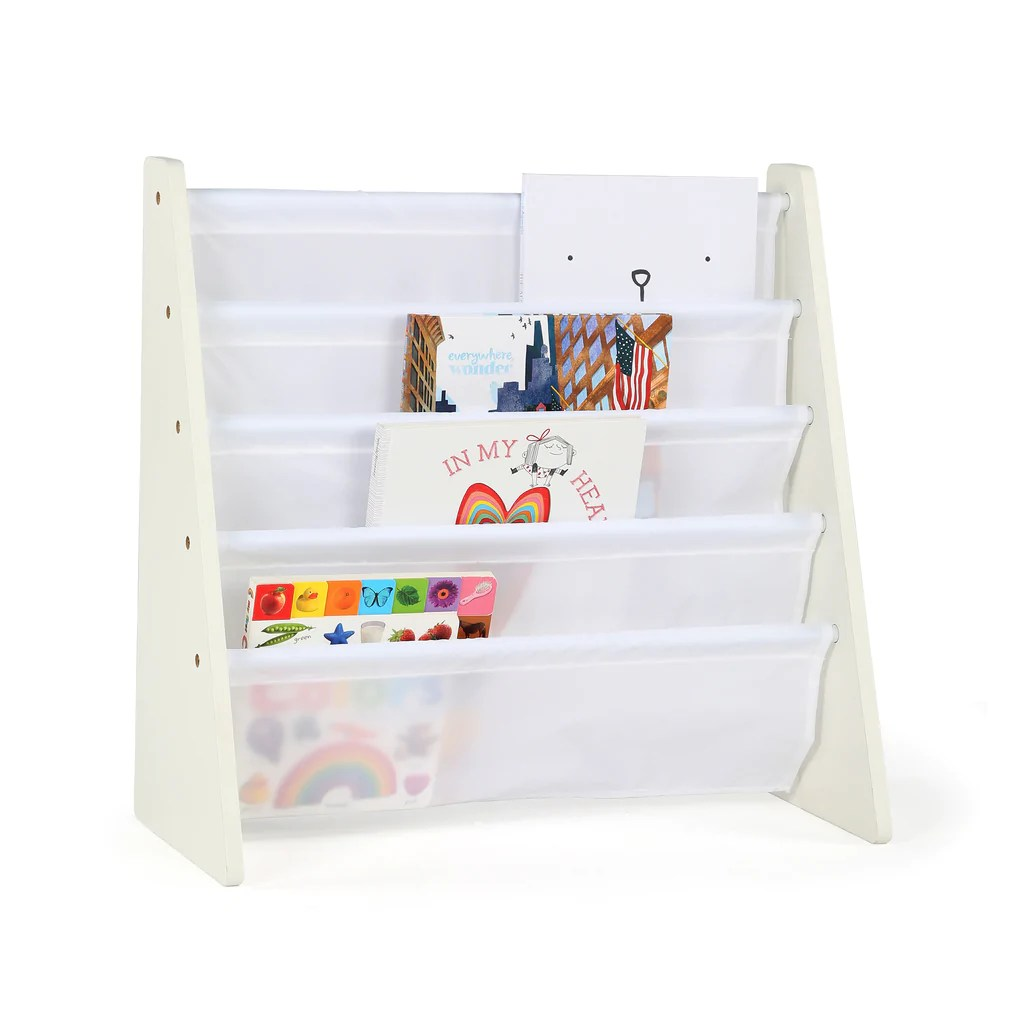 cambridge white book rack