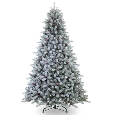 Frosted Maine Blue Spruce Pre Lit Artificial Christmas Tree Christmas Tree Artificial