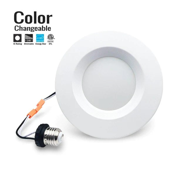recessed led trim 5 or 6 inch 3 cct 3000k 4000k 5000k switchable dimmble 10 year warranty shipping included