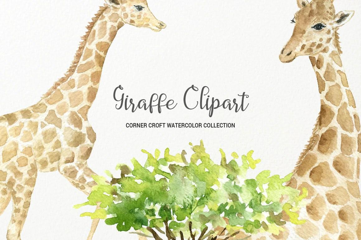 giraffe clipart watercolor giraffe figurine giraffe portrait download corner croft [ 1160 x 772 Pixel ]
