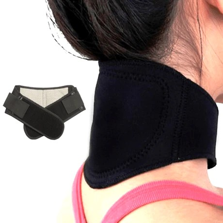 Neck Brace Thermal Collar Magnetic Heated Pad Cervical