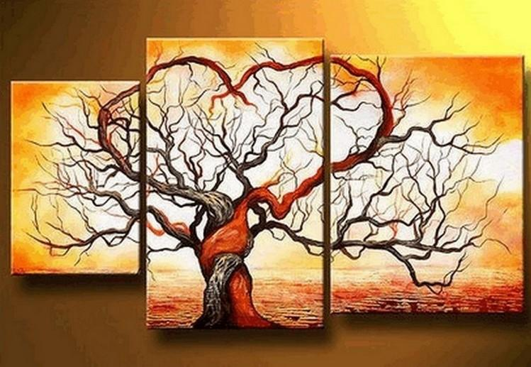 abstract painting love tree