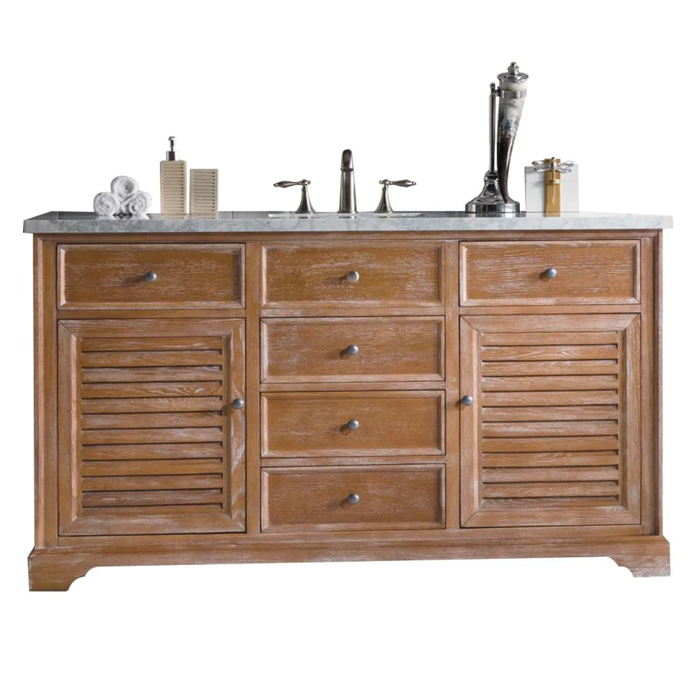 60 Savannah Driftwood Single Bathroom Vanity