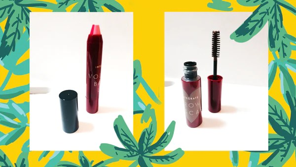 integrate lipstick and eyebrow mascara