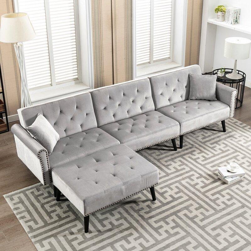 kinwell modern home right hand facing modular sectional sofa