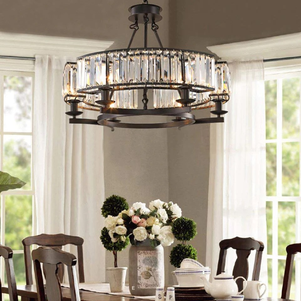modern crystal chandelier with