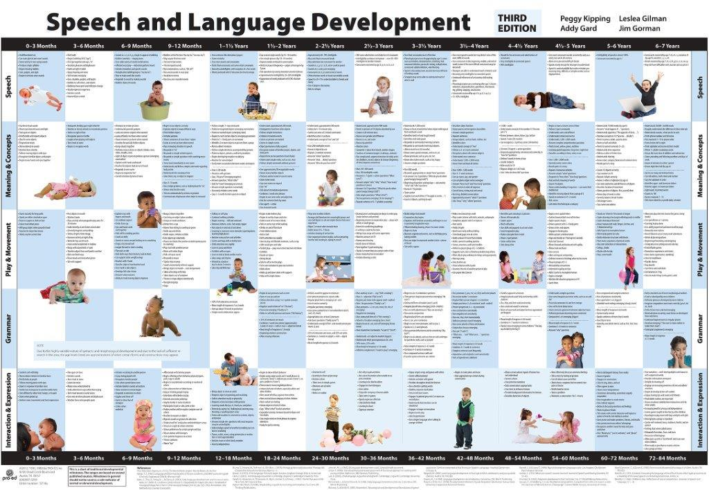 Speech and language development chart third edition also  mayer johnson rh