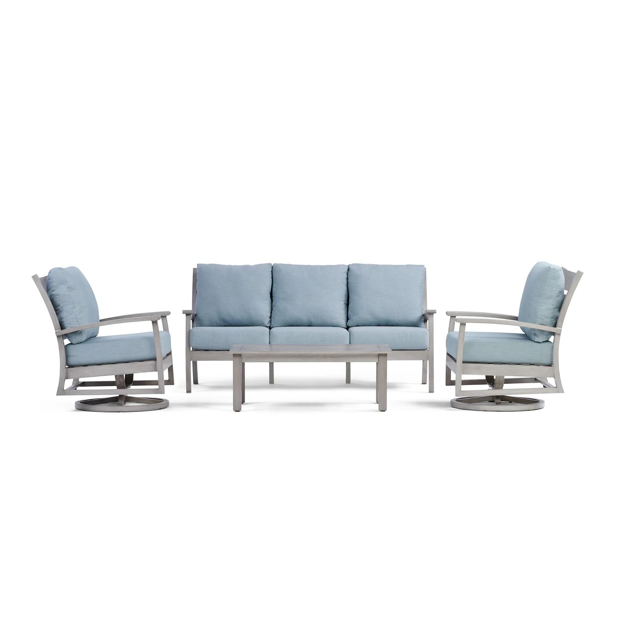 swivel chair sofa set nfl bean bag chairs eden outdoor with yardbird furniture