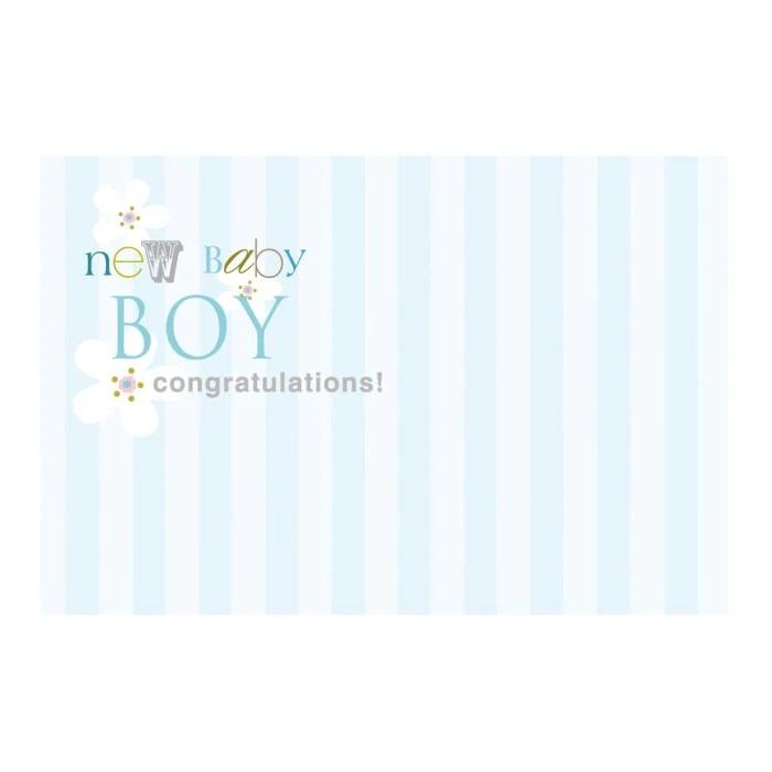 Pack Of 50 Cards New Baby Boy Congratulations Artificial Floral Supplies