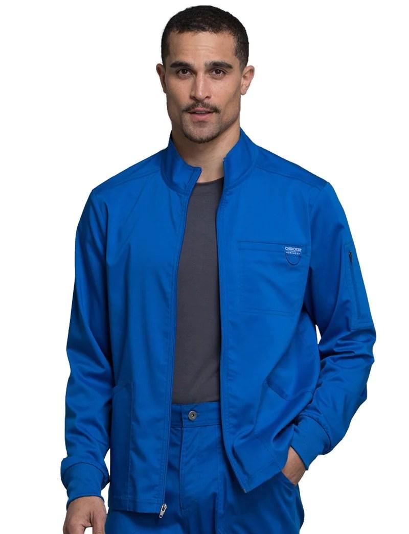 Cherokee Workwear Revolution Mens Zip Front Warm- Scrub