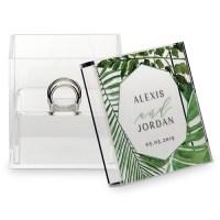 Acrylic Wedding Ring Box - Tropical Safari  My Bridesmade
