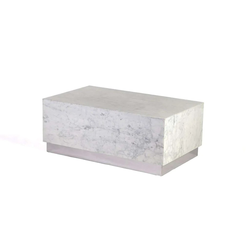 Modern Kubik Marble Coffee Table  Large  France  Son
