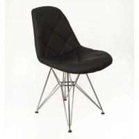 Mid Century Modern Black Mid Century Padded Dining Chair ...