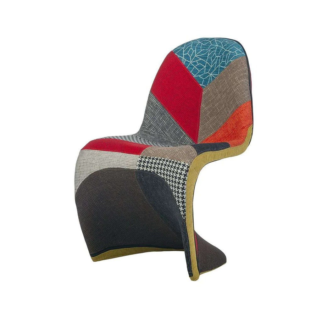 panton s chair replica swivel patio chairs clearance mid century modern reproduction patchwork