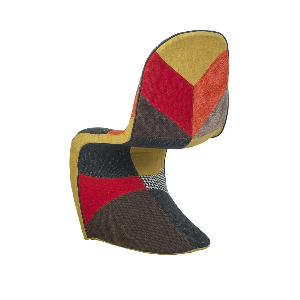panton s chair replica office back support for pregnancy mid century modern reproduction patchwork