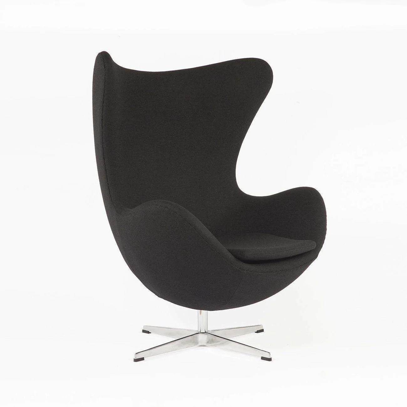mid century egg chair white wicker rocking canada modern reproduction black inspired by arne quote details