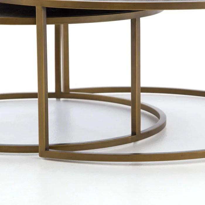 shagreen nesting coffee table