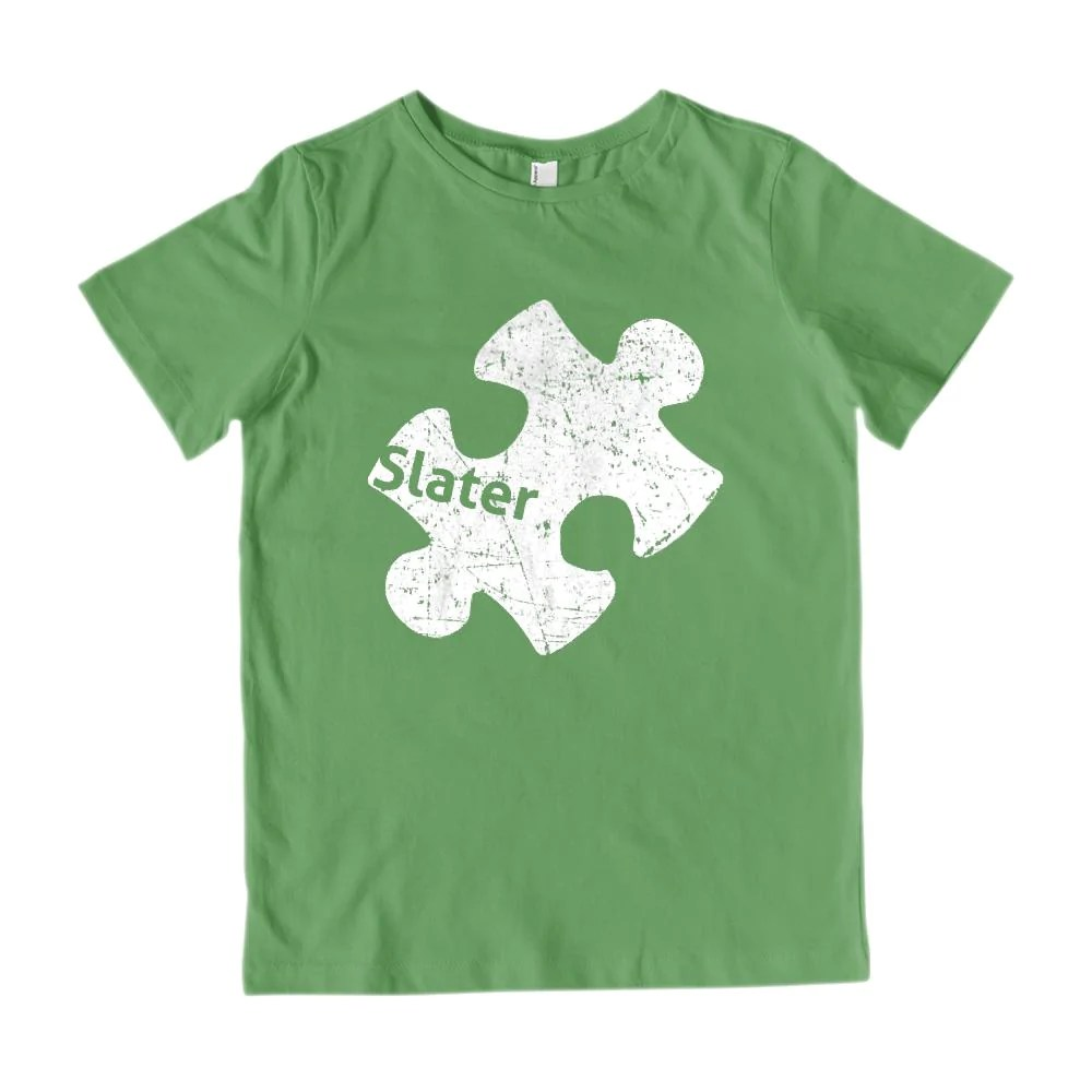 02459fd6e ... T-shirt · Youth Gildan Cotton Custom Autism Awareness Puzzle Piece