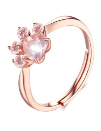 Rose Gold Paw Ring  IndigoPetco.com