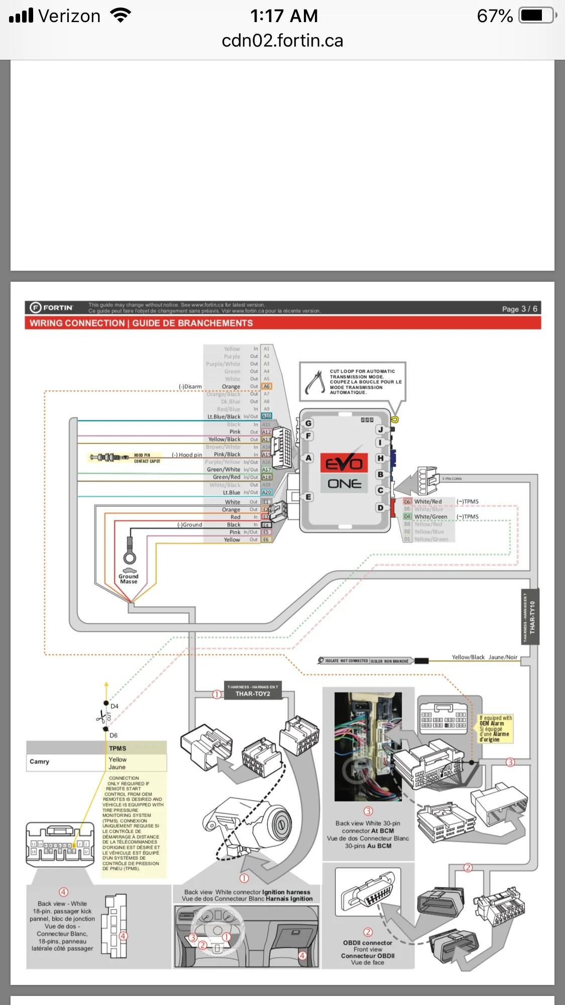 medium resolution of  toyota camry h key 2015 2017 remote car starter plug