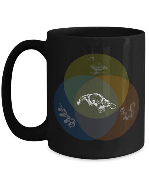 platypus venn diagram 2005 nissan pathfinder bose audio wiring shirt white funny coffee mug 15oz black