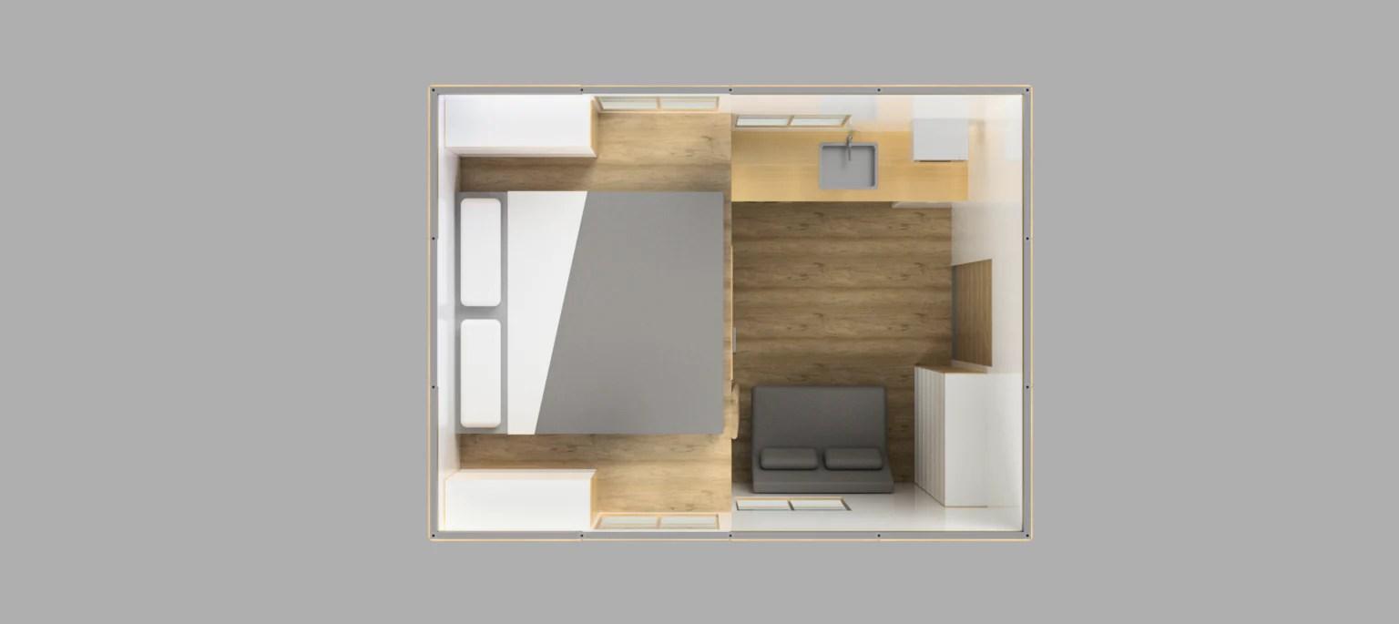4m x 3m tiny house  [ 1536 x 685 Pixel ]