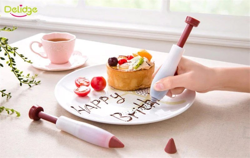 Free Silicone Cake Decorating Pen Dessert Pastry Cup Cake Biscuit